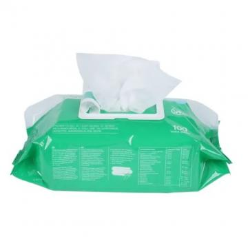 Adult large size 75% alcohol hand disinfection cleaning wipes with customized box