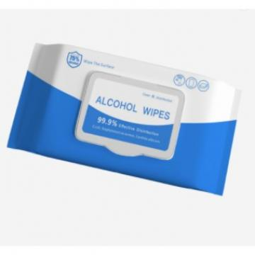 2020 Anti Virus Alcohol Wipes 75% Alcohol Surface Disinfection Wipes in Stock