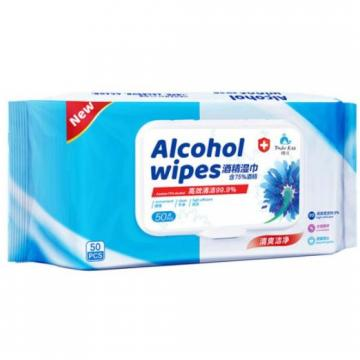 OEM Wet Wipes Alcohol Based Disinfectant Wipes for Surfaces Sanitizing