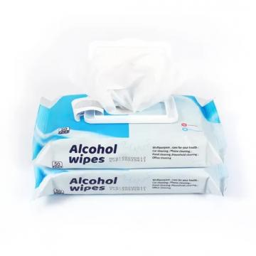 75% Alcohol Wipes Disinfectant Cleaning Wet Wipes Non-woven Fabric Custom Cleaning Wet Wipes