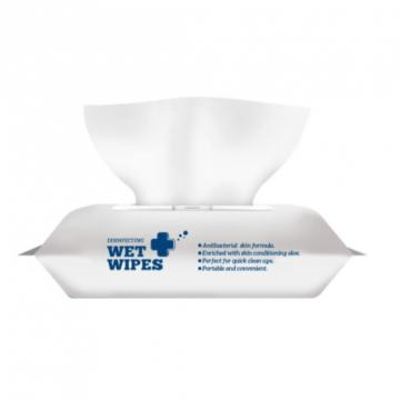 30PCS 75% Alcohol Disinfecting Disposable Bulk Wet Tissue Wipes