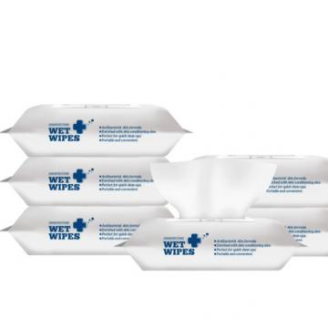 Biodegradable Flushable Antibacterial Disinfectant 75% Alcohol Wipes