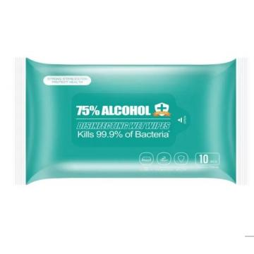 Medical disposable 70% isopropyl alcohol wet wipes in alcohol wipe tube