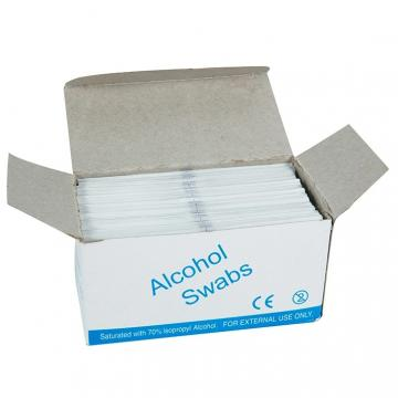 Factory Supply Alcohol Pads with 70% Isopropyl Alcohol