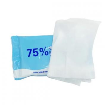 Alibaba select 10pcs in pouch 75% Alcohol Disinfectant Wipes for US/EU market(340bag/carton)