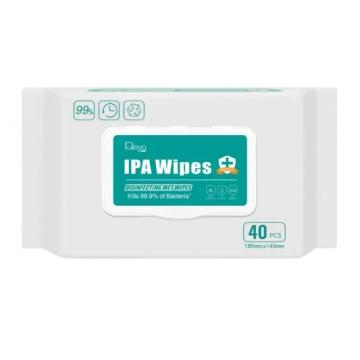 Latest Disinfection 70% Isopropyl Alcohol Medical Detergent Barrel Wipes for Hospital Killing Bacteria Ipa Wet Wipes