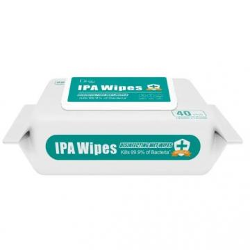 Customized 100PCS 70% Ipa Antibacterial Household Surface Cleaning Wet Wipes