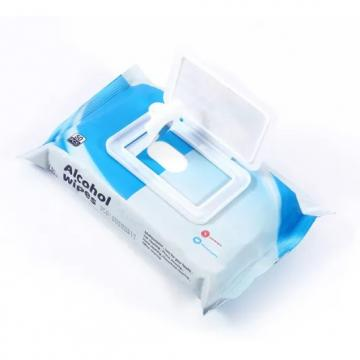 OEM hot sale high quality 100pcs sanitizing 75% alcohol wet wipes free samples disinfection cleaning wet wipes
