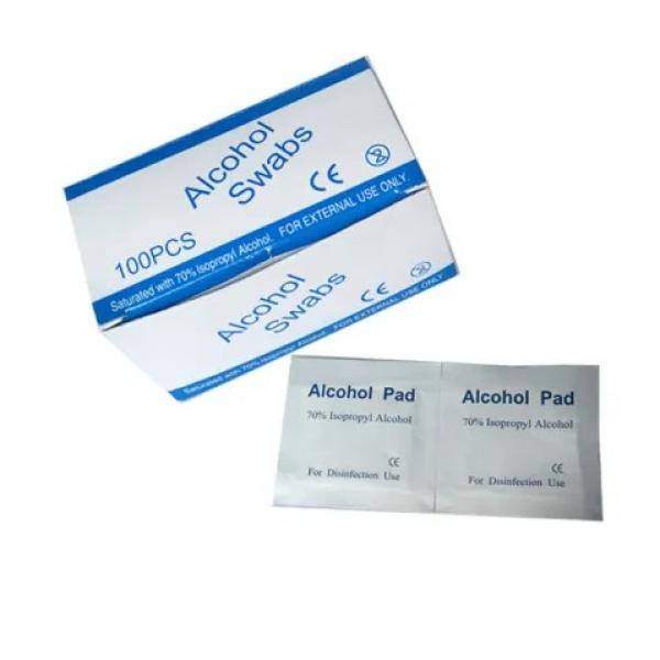 Waketm Pre Injection FDA Bd Wholesale Disinfectant Price Antibacterial Wipes 70 Isopropyl Disposable Swab Prep Alcohol Pad #1 image