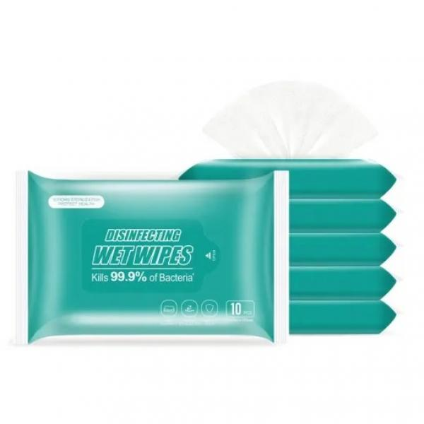 70% isopropyl alcohol antiseptic wipes with small MOQ ans fast production #3 image