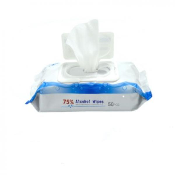 Antibacterial Cleaning Home Office Travel 75% Alcohol Wipes #3 image