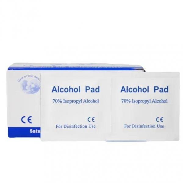 Disposable Alcohol Prep Pads 6X3cm with 75% Isopropyl Alcohol for Skin, Cleaning Toy, Earrings etc #1 image