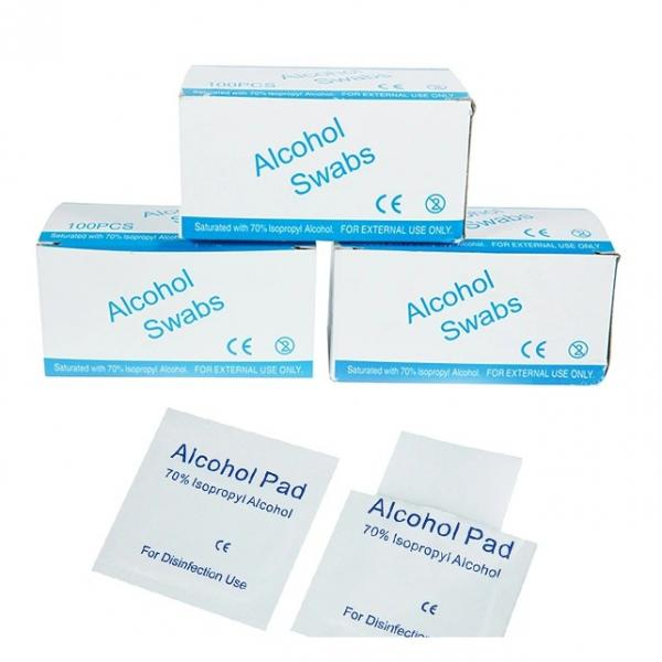 Disposable Alcohol Prep Pads 6X3cm with 75% Isopropyl Alcohol for Skin, Cleaning Toy, Earrings etc #2 image