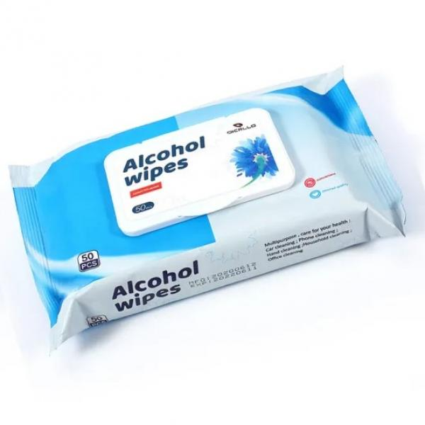 Home pack alcohol free antibacterial wipes for hands and face, antiseptic wipes #3 image